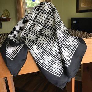 Echo silk chinon polka dot scarf